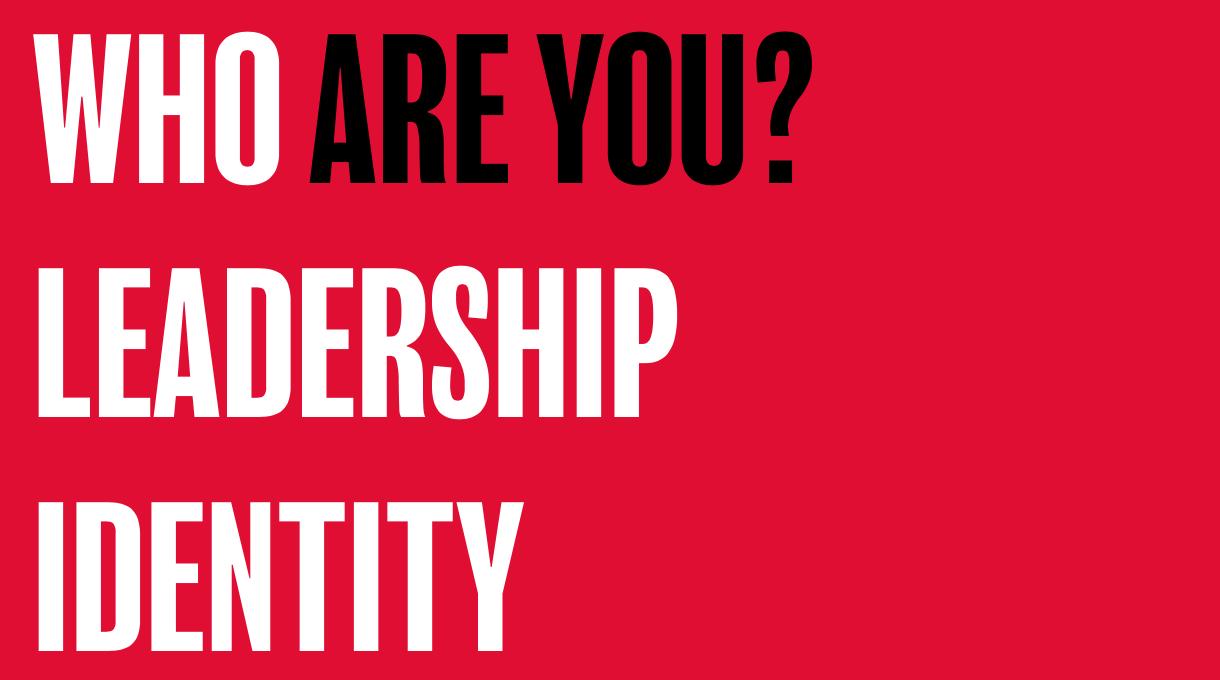 Leadership identity in Youthwork