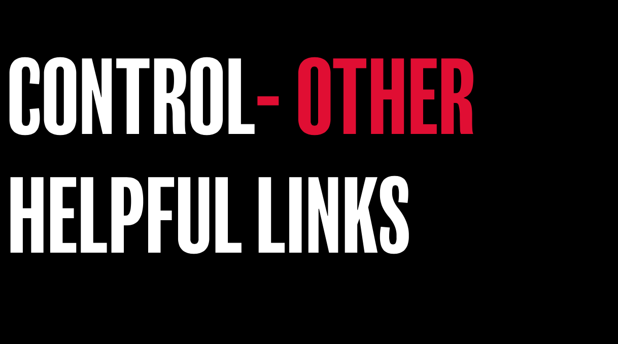 Control- Other helpful links