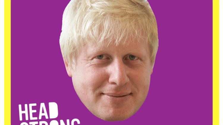 Who's hiding behind Boris' head?!