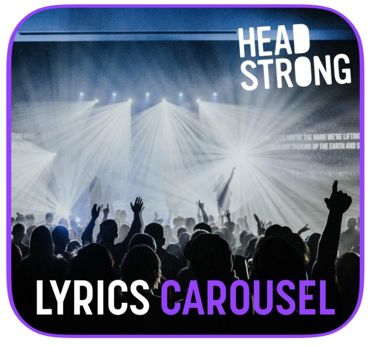 Lyrics carousel