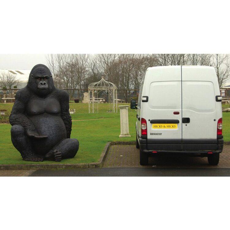 Silverback gorilla garden statue 10557 initial